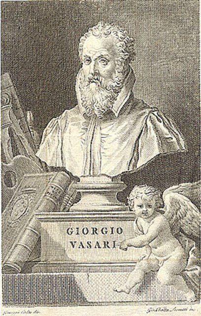 Engraving of Giorgio Vasari bust