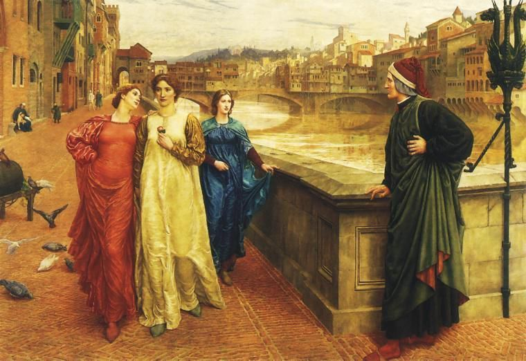 The encounter between Dante and Beatrice in Florence