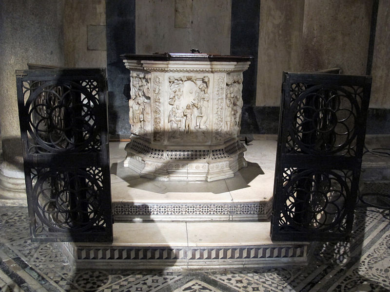 The Baptismal Font in the Baptistry of San Giovanni, Florence