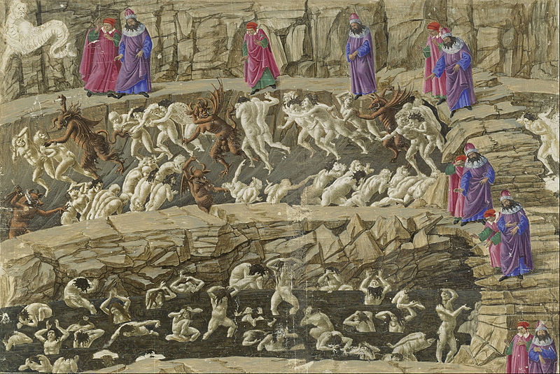 Botticelli drawing for The Divine Comedy