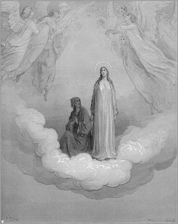 Dante and Beatrice in Heaven by Gustave Dorè