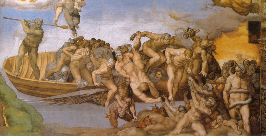Charon by Michelangelo in the Sistine Chapel