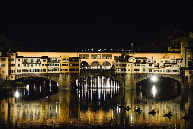Ponte Vecchio New lighting by Stefano Ricci