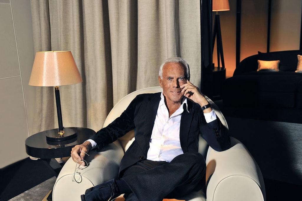 A portrait of Giorgio Armani