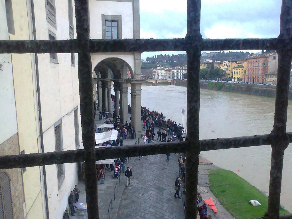 View from Florence Vasari Corridor