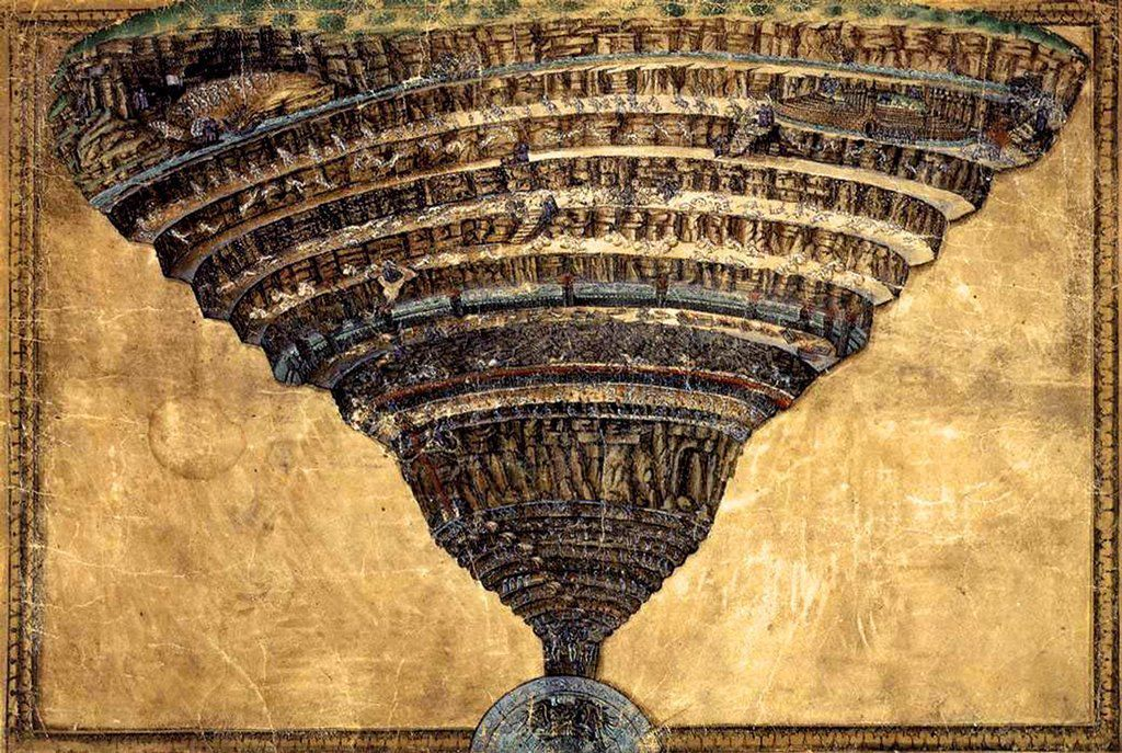 The Map of Hell (La Mappa dell'Inferno) by Botticelli