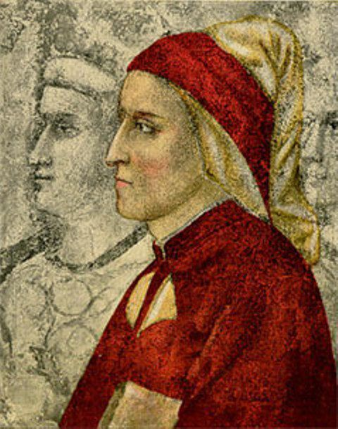 Dante portait at the Bargello Museum