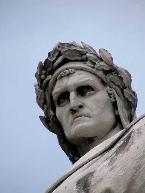 Dante statue in Piazza Santa Croce, Florence