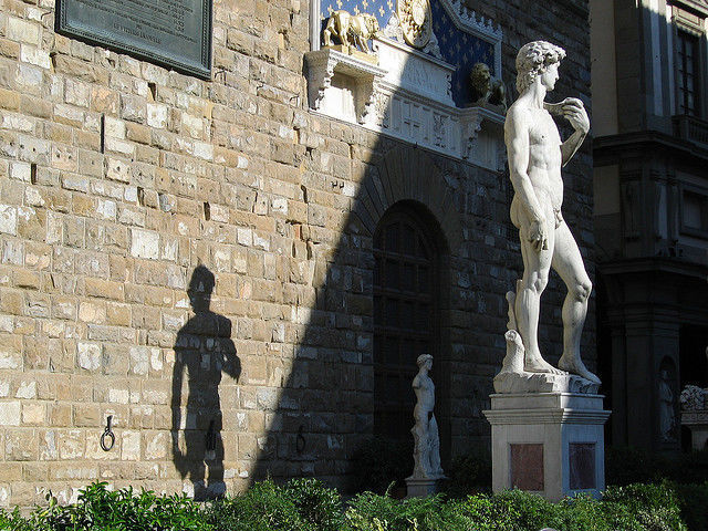 David at the entrance of Palazzo Vecchio