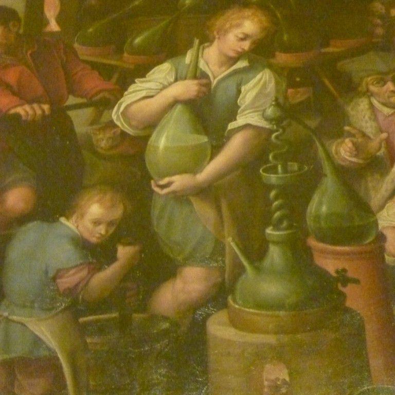 Francesco I in Laboratorio di Alchimia by Giovanni Stradano