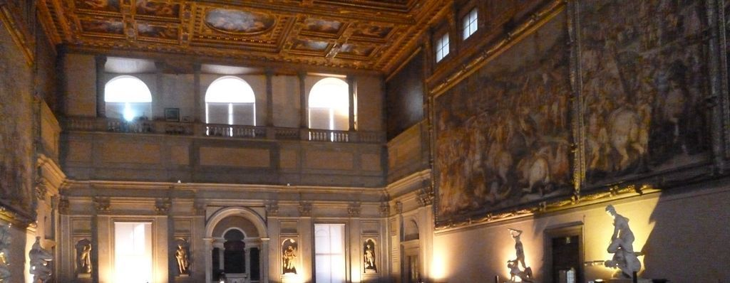 Paintings by Giorgio Vasari in the Hall of the Five Hundred