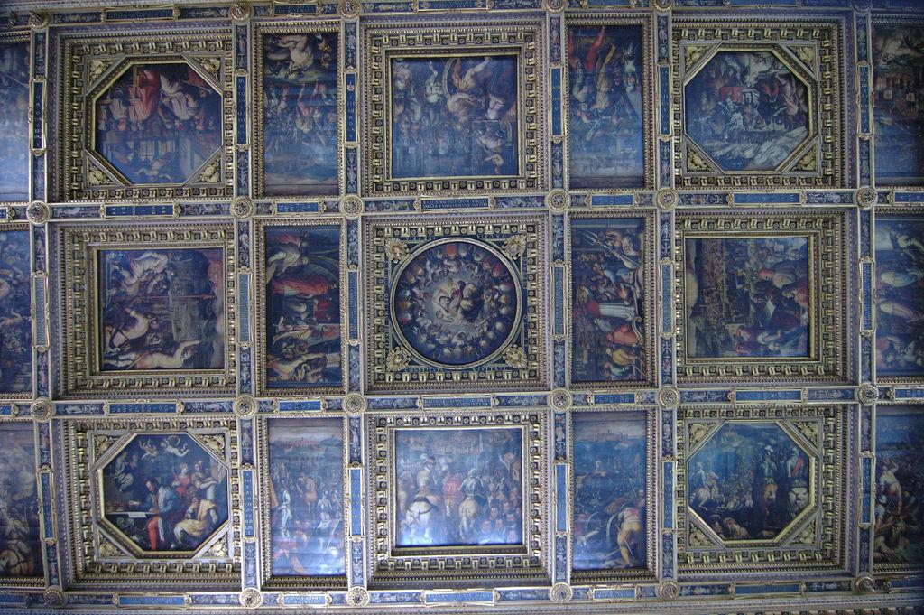 Palazzo Vecchio- soffitto del Salone dei Cinquecento by Francesco Gasparetti