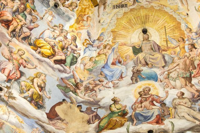 Vasari frescos in Santa Maria del Fiore, Florence