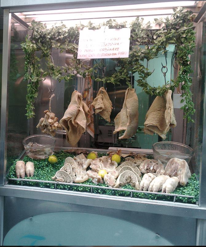 A lampredotto peddler in Florence