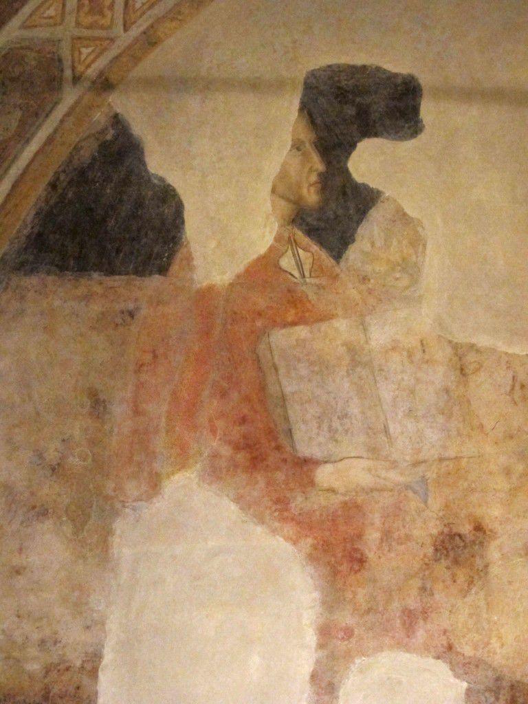 Dante in Palazzo dell'Arte dei Giudici e Notai fresco