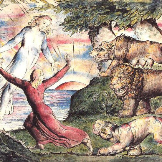 Lust, Pride, Avarice by William Blake