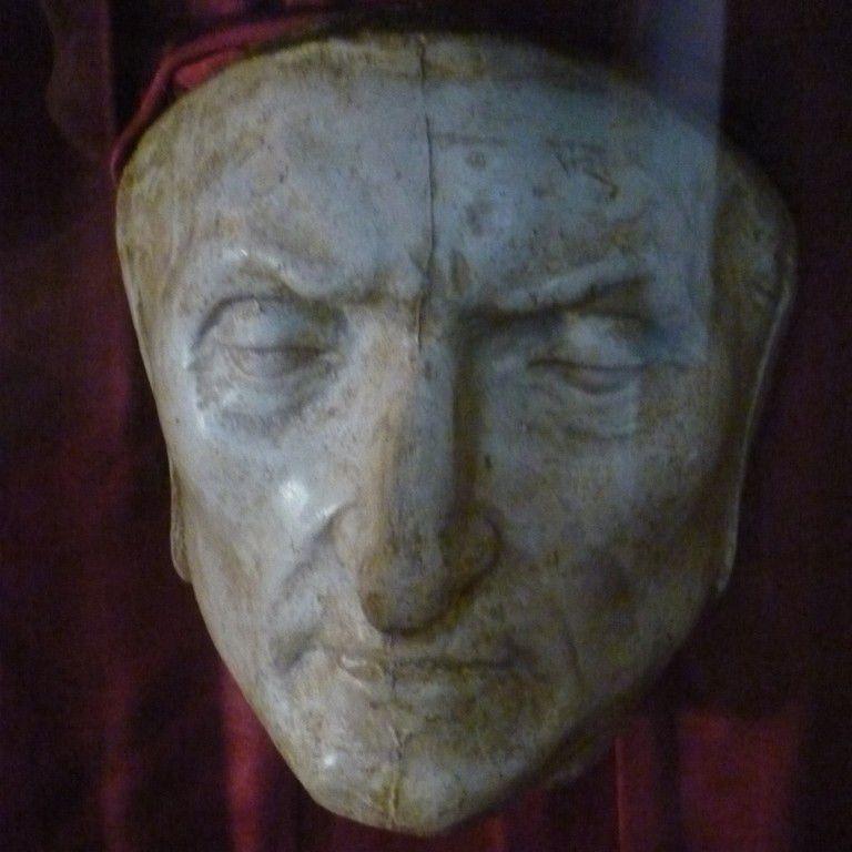 Dante Death Mask in Palazzo Vecchio