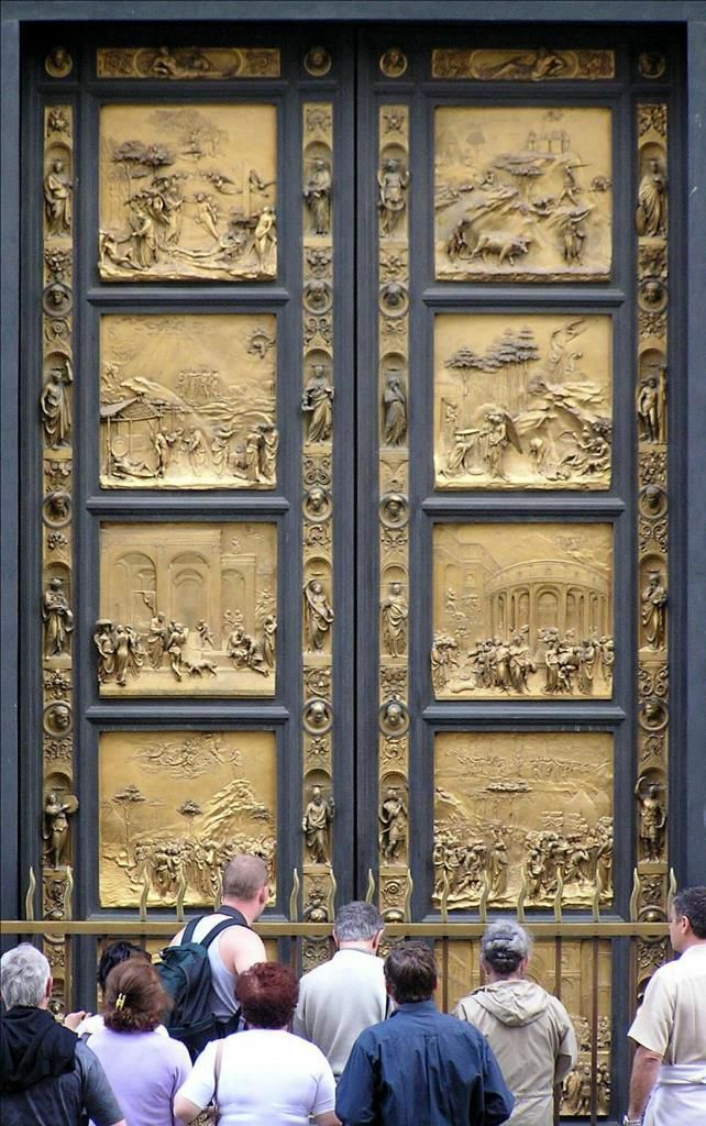 Copy of the Gates of Paradise in Florence Baptistry