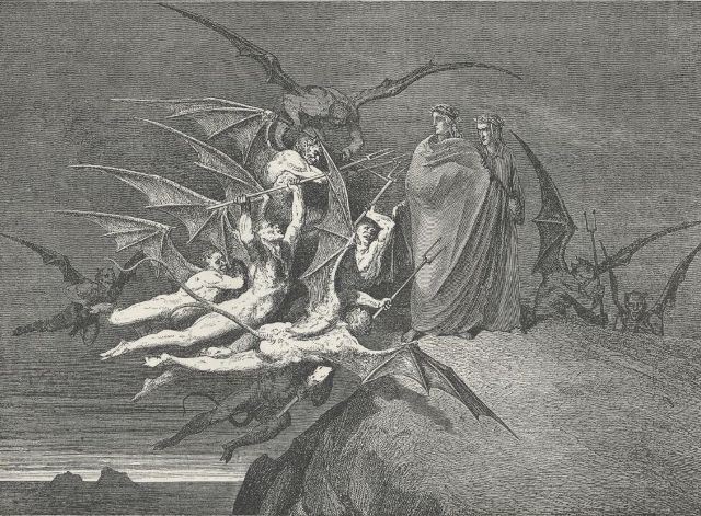 Gustave Dorè illustration of Malebolge