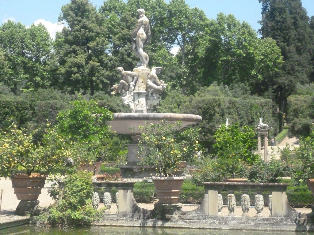 The Fountain of Ocean by Giambologna in Boboli Gardens Isolotto