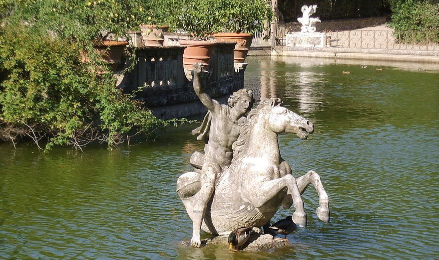 Perseus in the Boboli Gardens Isolotto