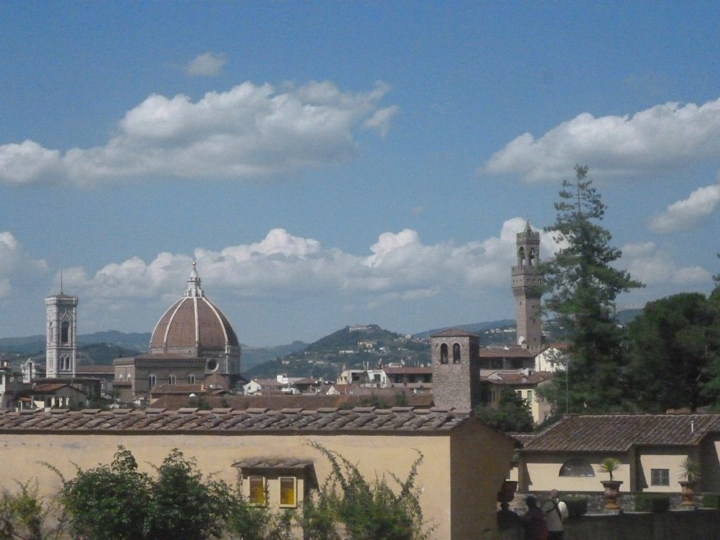 View of Florence old town from Boboli Gardens