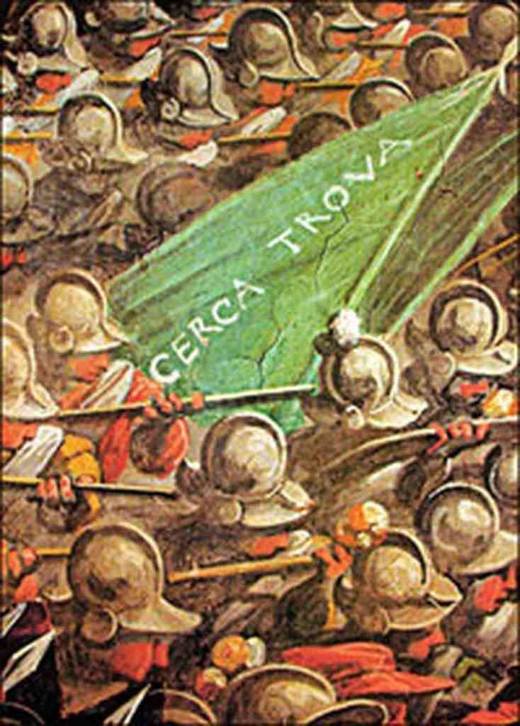 A Sienese army green flag