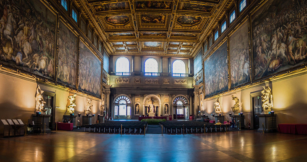 salone dei cinquecento in the Vecchio Palace by Randy Connolly