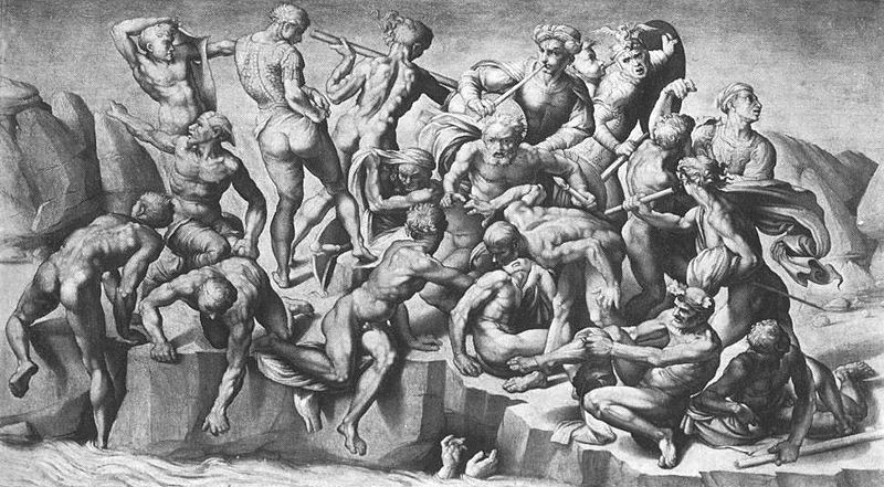 The Battle of Cascina by a Michelangelo's scholar