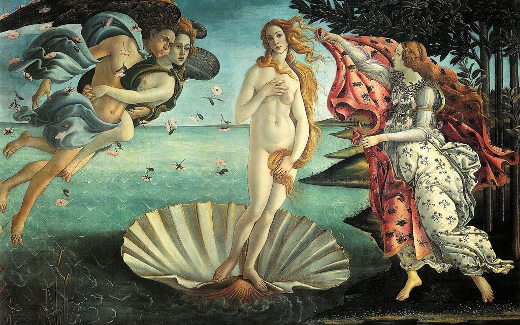 Botticelli, Nascita di Venere by Pietro Zanarini