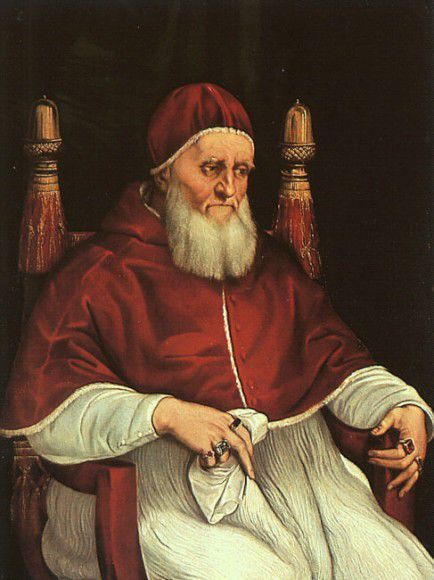 The pope Giulio II in a portrait by Raphael