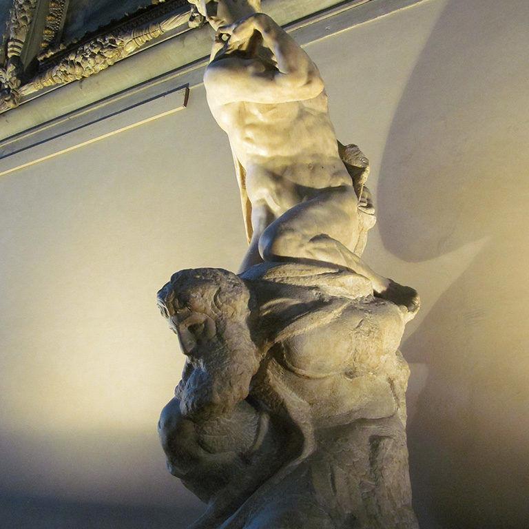 Michelangelo's Genius of Victory by virtusincertus