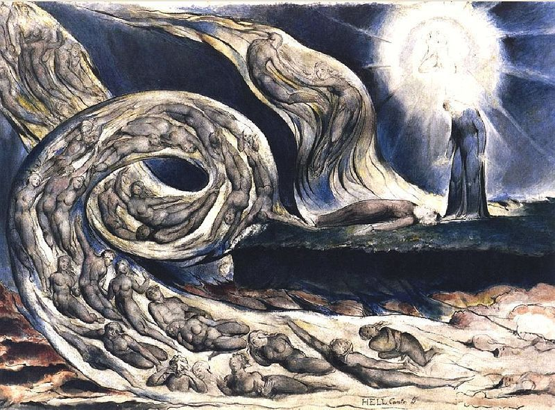 A Blake's illustration for Hell