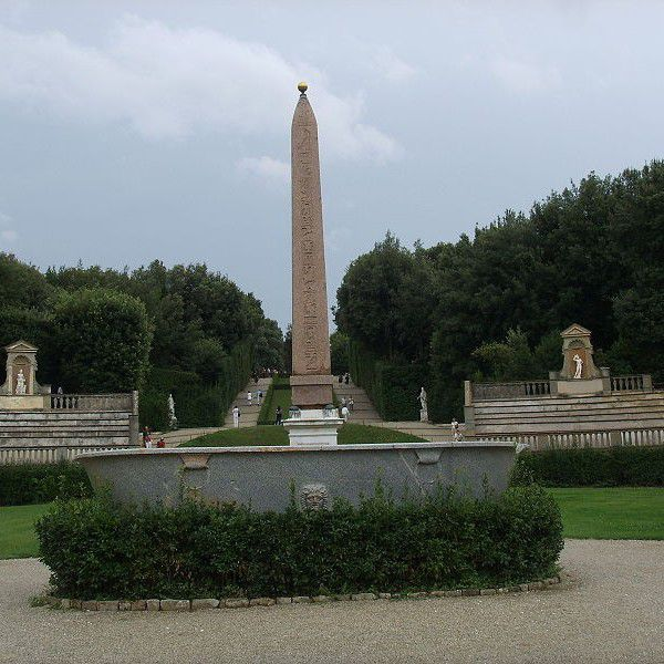 The tank and the obelisco in the Boboli Gardens