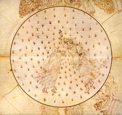 Botticelli's Dante and Beatrice in the heaven of Mercury