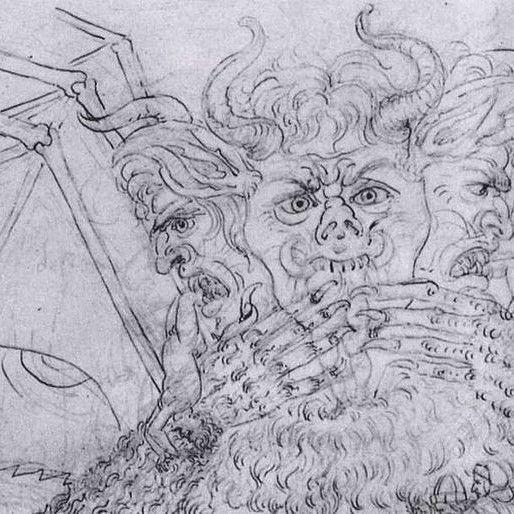 Satan in a Botticelli illustration