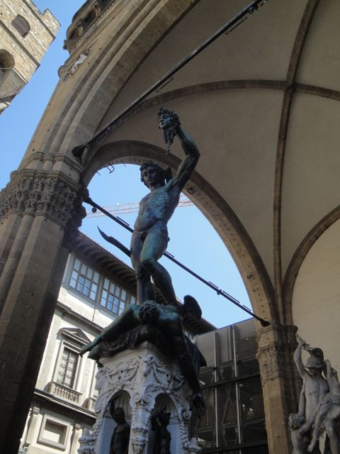 The Perseus in the Loggia dei Lanzi