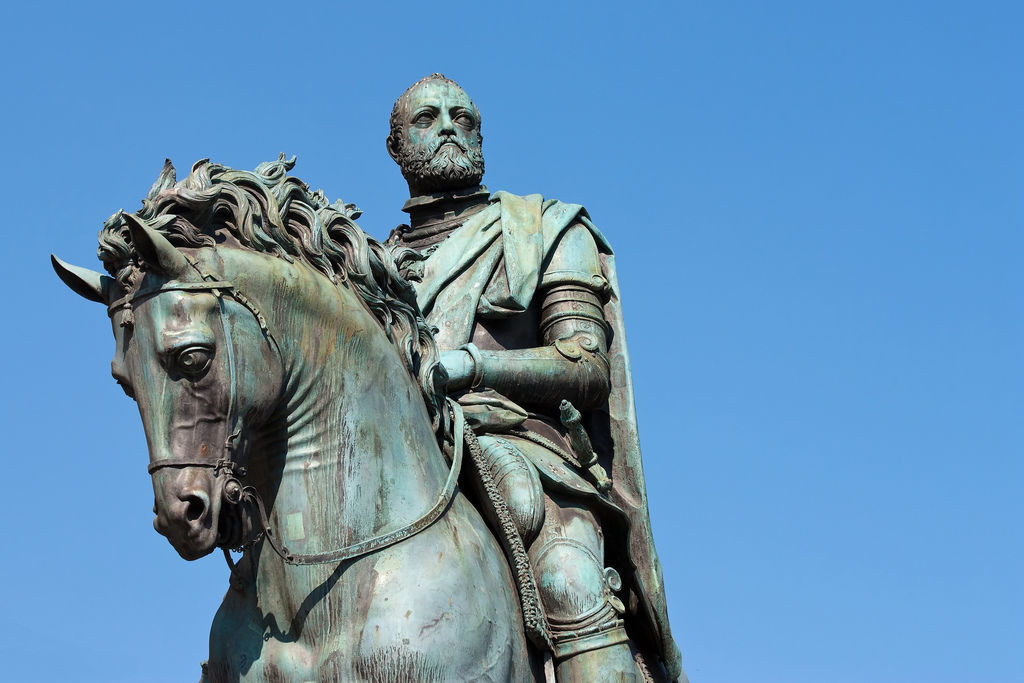 The equestrian statue of Cosimo de' Medici in Florence