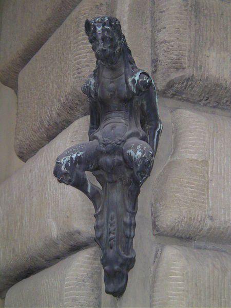 The bronze little devil statue