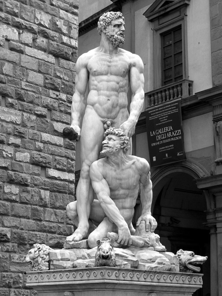 Hercules and Caco by Baccio Bandinelli