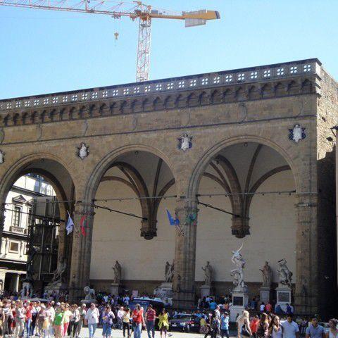 The Loggia dei Lanzi in Piazza della Signoria