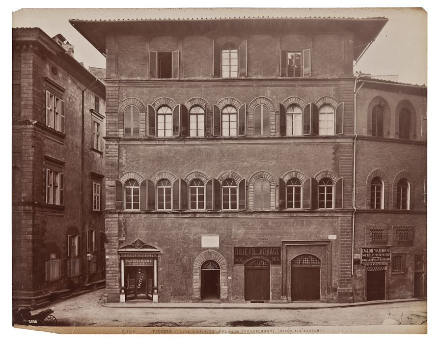 An ancient picture of Palazzo Buondelmonti in Florence