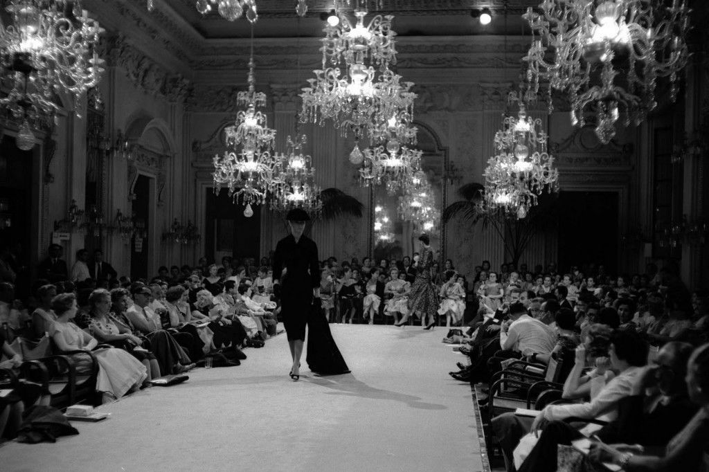 A fashion show at the Sala  Bianca in the Pitti Palace