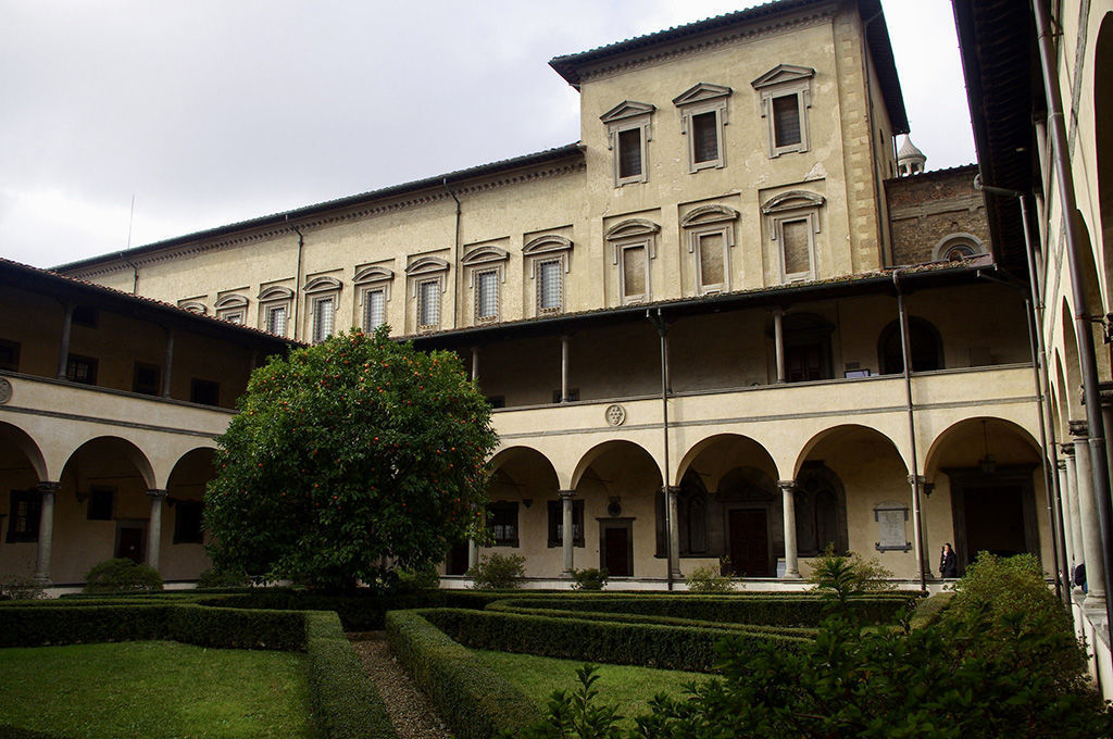 San Lorenzo Cloister and Laurentian Library by dvdbramhall