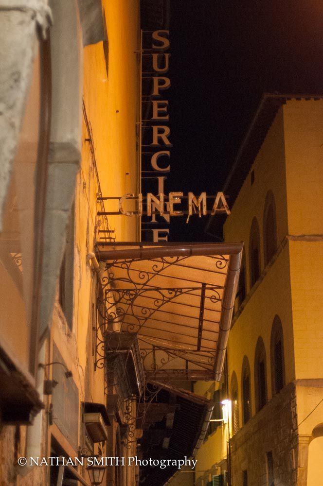 An ancient cinema in a small alley