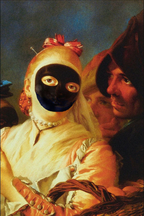 Portrait of a lady with the moretta mask