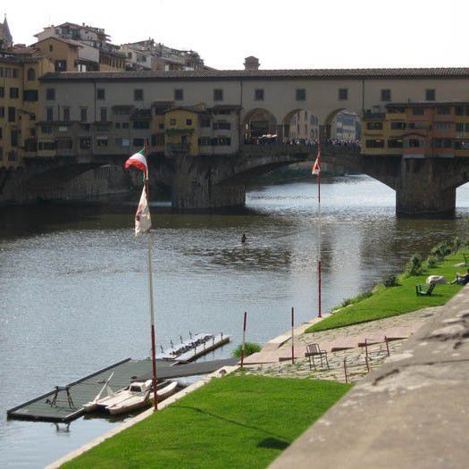 The headquarters of the Società Canottieri in Florence