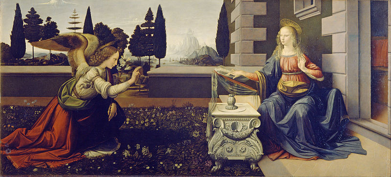 leonardo's Annunciation at the Uffizi Gallery
