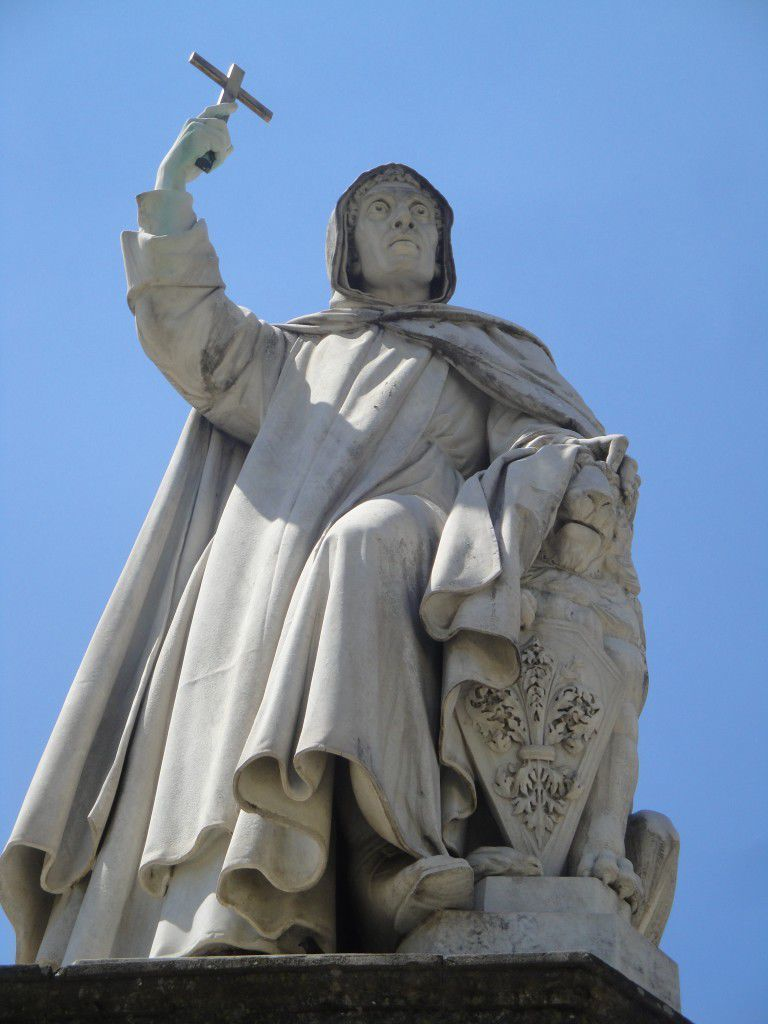 The statue of Girolamo Savonarola in Florence
