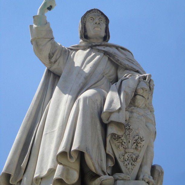 The statue of Girolamo Savonarola in Florence